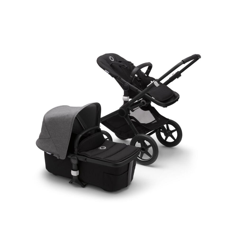Bugaboo Fox2 Stroller BLACK/BLACK/GREY MELANGE