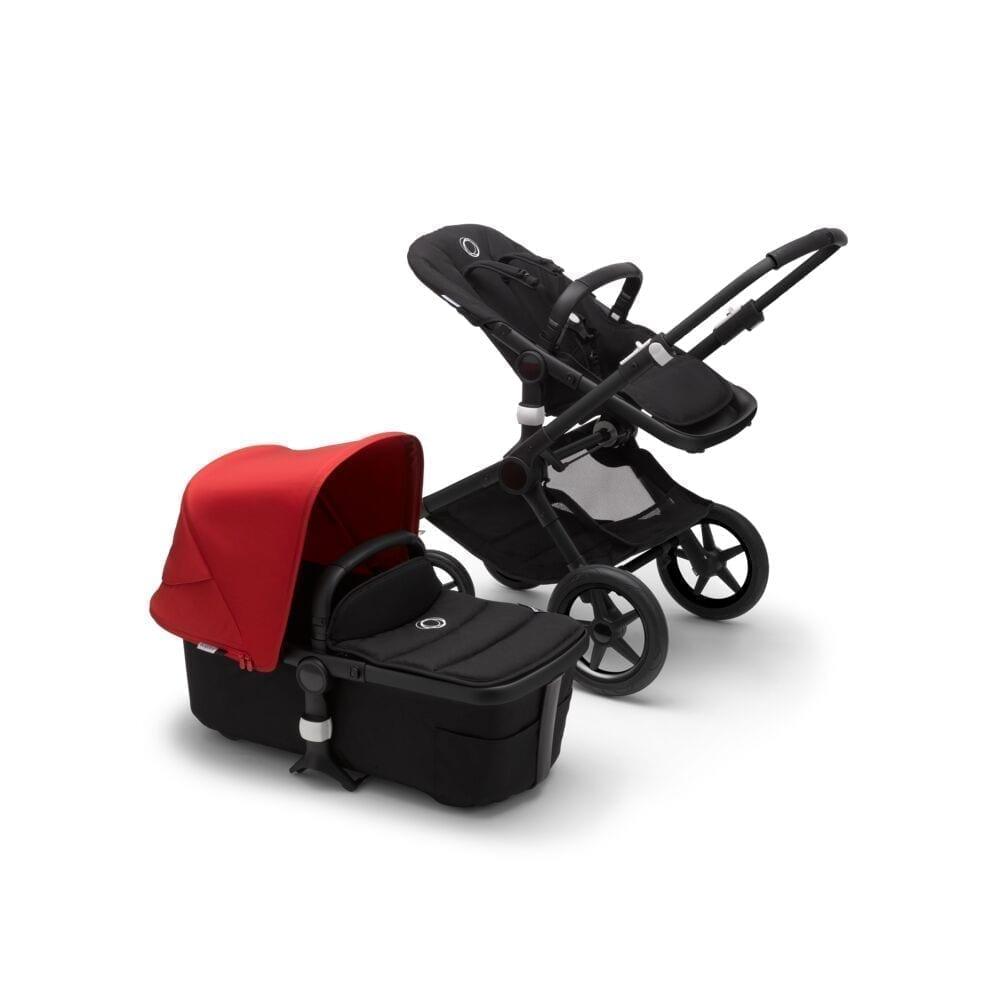 Bugaboo Fox2 Stroller BLACK/BLACK/RED