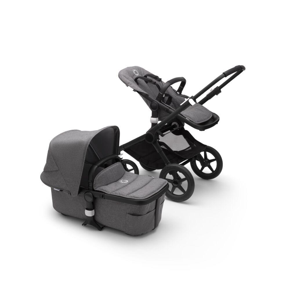 Bugaboo Fox2 Stroller BLACK/GREY MELANGE/GREY MELANGE