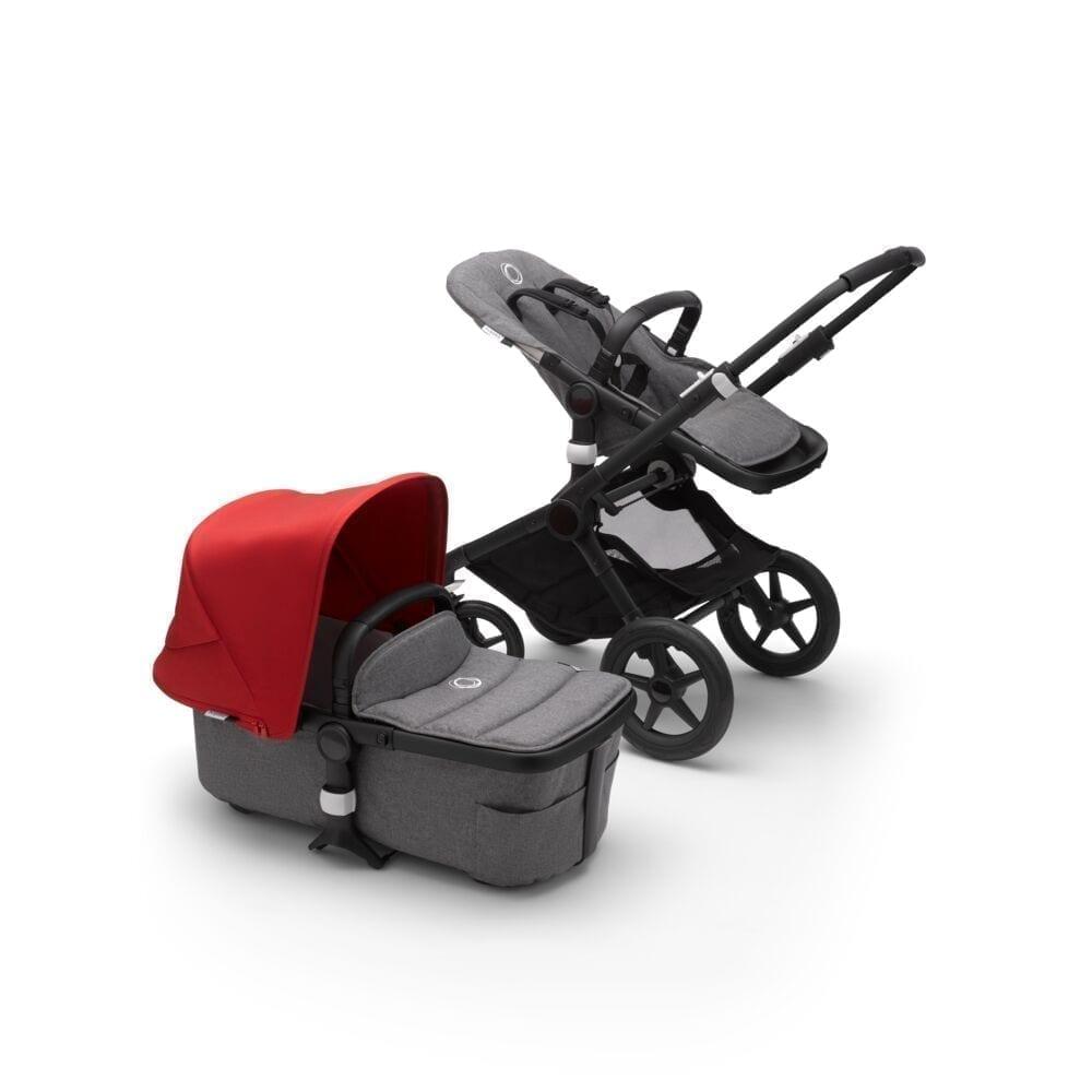 Bugaboo Fox2 Stroller BLACK/GREY MELANGE/RED