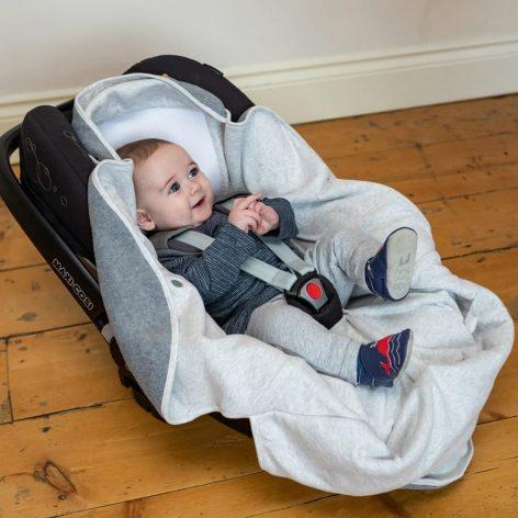 Purflo Cosy Wrap Travel Blanket 0-9m - Minimal Grey