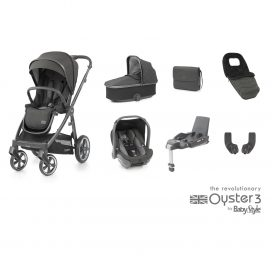 BabyStyle Oyster 3 Pepper (City Grey) Luxury Travel System