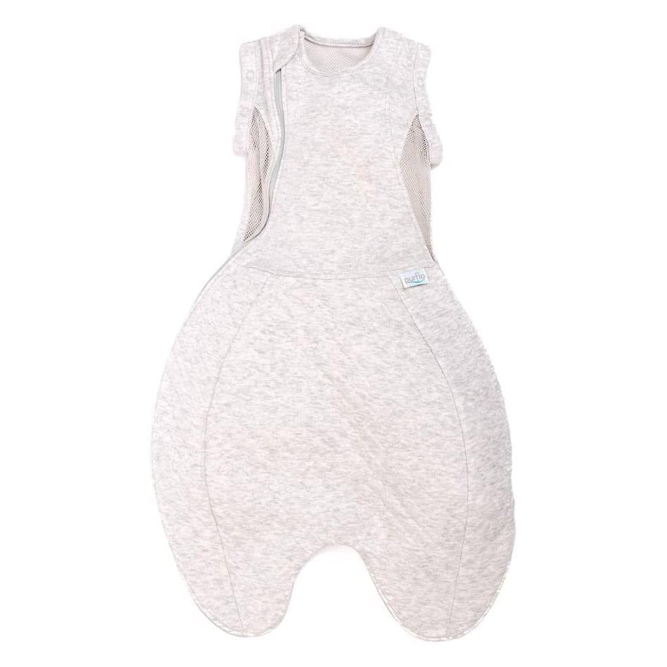 Purflo Swaddle To Sleep Bag 2.5 Tog 0-4m All Seasons - Minimal Grey