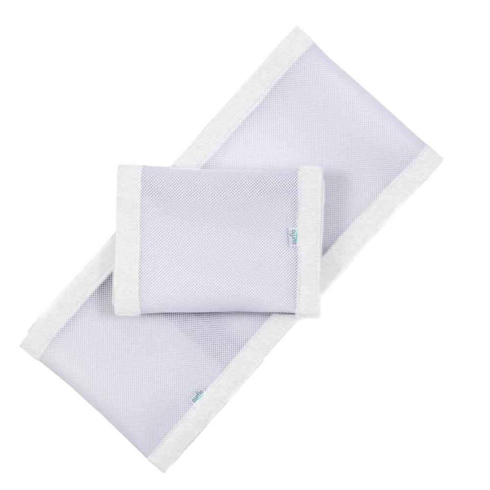 Purflo Breathable Cot Bumper - Soft White