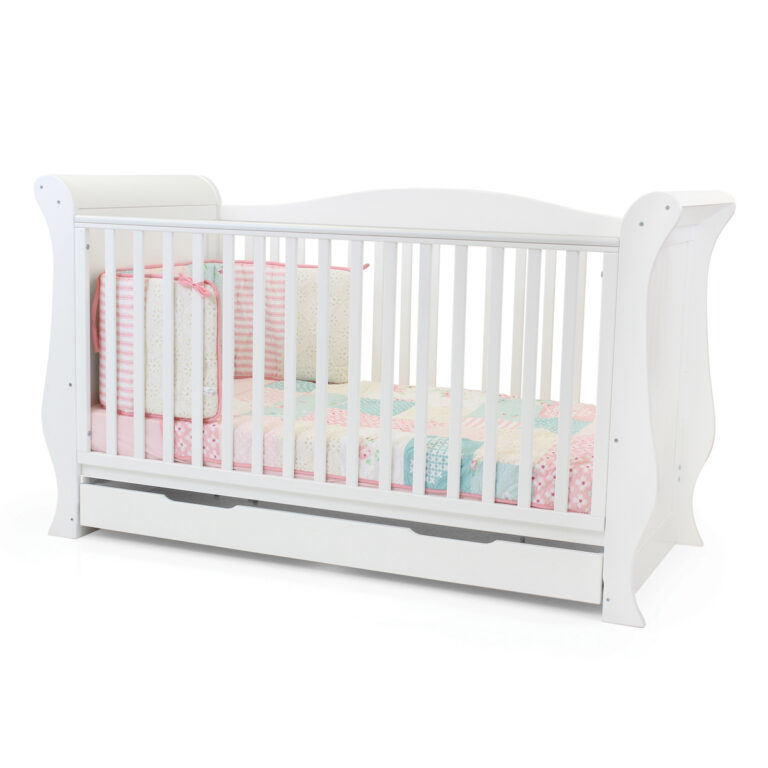 Hollie Sleigh Cot Bed White