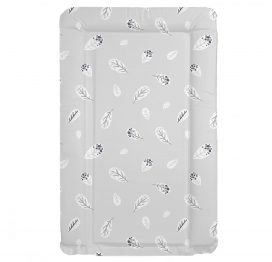 Grey Feather Baby Changing Mat