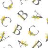 Bebe au Lait Floral Alphabet Luxury Muslin Changing Pad Cover