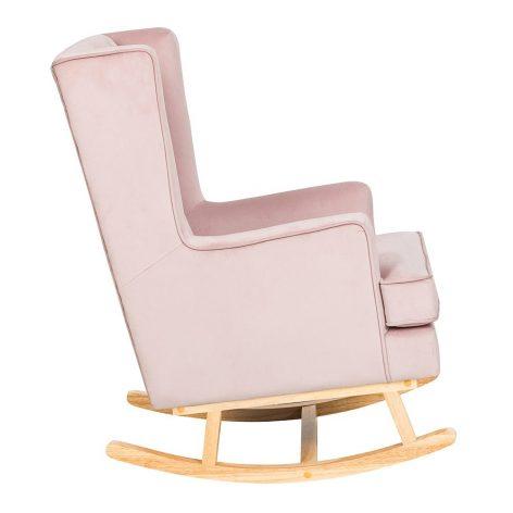 Nursing Rocking Chair Dusty Pink Natural Legs