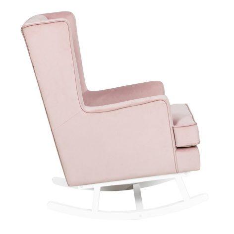 Nursing Rocking Chair Dusty Pink White Legs