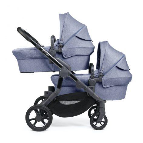 iCandy Orange Blue Mist Marl Pushchair Twin