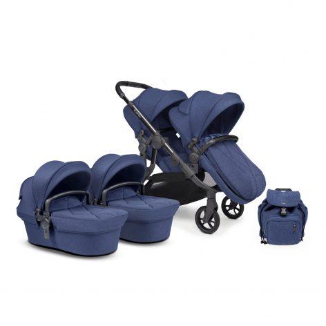 iCandy Orange Royal Blue Marl Pushchair Twin