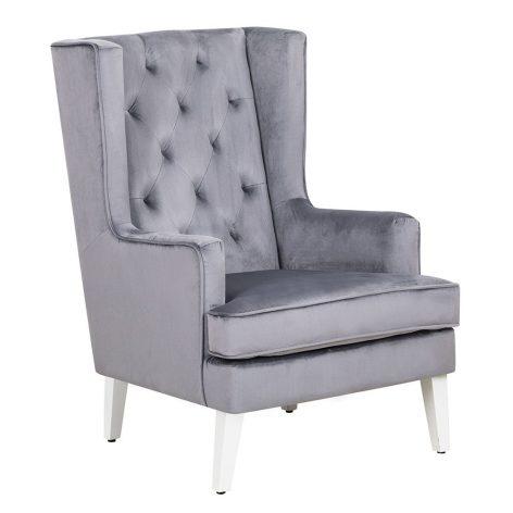 Nursing Rocking Chair Midnight Grey White Legs