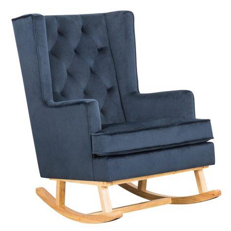 Nursing Rocking Chair Dark Navy Natural Legs