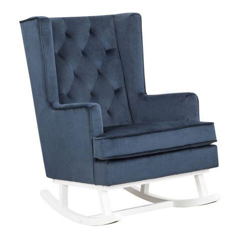 Nursing Rocking Chair Dark Navy White Legs