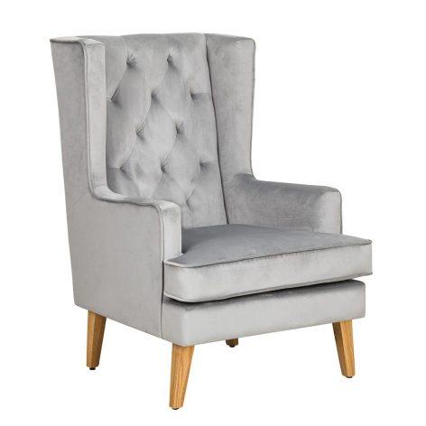 Nursing Rocking Chair Quiet Grey Natural Legs